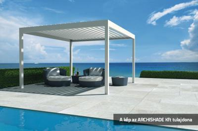 Lamellás kerti teraszárnyékoló - erkély / terasz ötlet