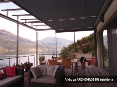 Télikert árnyékoló - erkély / terasz ötlet, rusztikus stílusban