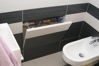 Csempézhető strangajtó - FF Systembau F3 rendszer - fürdő / WC ötlet, egyéb stílusban