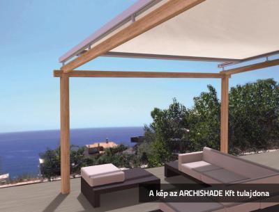 Télikert árnyékoló - erkély / terasz ötlet, modern stílusban