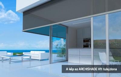 Zip-es külső textilárnyékoló - erkély / terasz ötlet