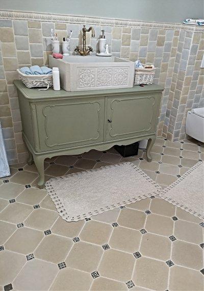 Barokk Lisztello és Mozaik burkolat a fürdőszobában. - fürdő / WC ötlet