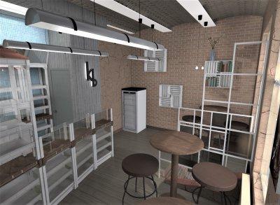 Üzlet belső tere - konyha / étkező ötlet