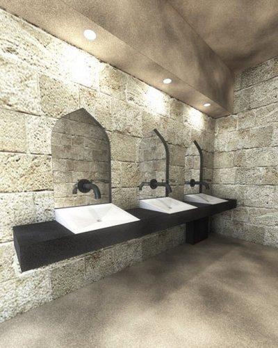 Mosdó koncepció terve - fürdő / WC ötlet