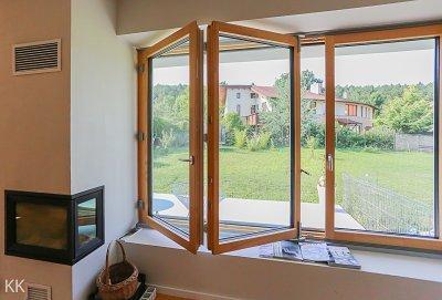 Harmonika ablak - nappali ötlet
