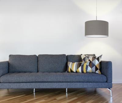 Textil függeszték - nappali ötlet, modern stílusban