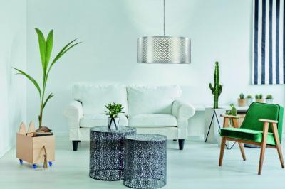 Nagyméretű függeszték a nappaliban - nappali ötlet, modern stílusban