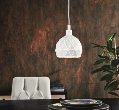 Függeszték az étkezőben - nappali ötlet, modern stílusban