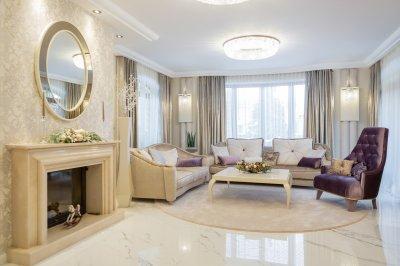 Nappali luxusba öltöztetve - nappali ötlet, klasszikus stílusban