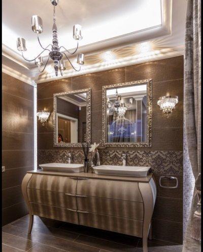 Fürdőszoba Ermont komóddal - fürdő / WC ötlet, klasszikus stílusban