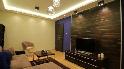 Készparketta a nappali falán - nappali ötlet, modern stílusban