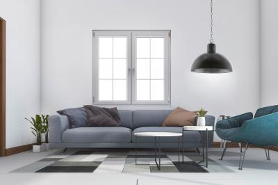 Modern függeszték a nappaliban - nappali ötlet, modern stílusban