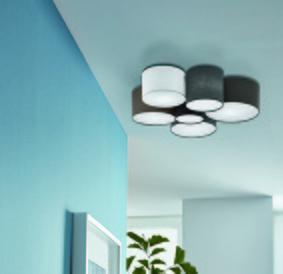 Fali vagy mennyezeti lámpa - nappali ötlet, modern stílusban