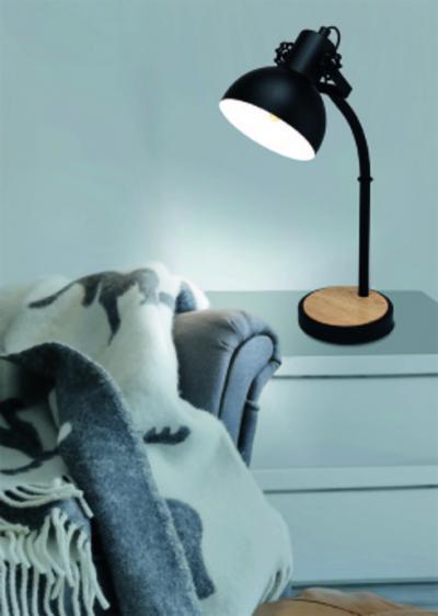Asztali lámpa a nappaliban - nappali ötlet, modern stílusban