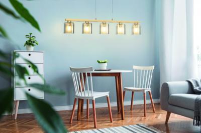 Modern függeszték a nappalilban - nappali ötlet, modern stílusban