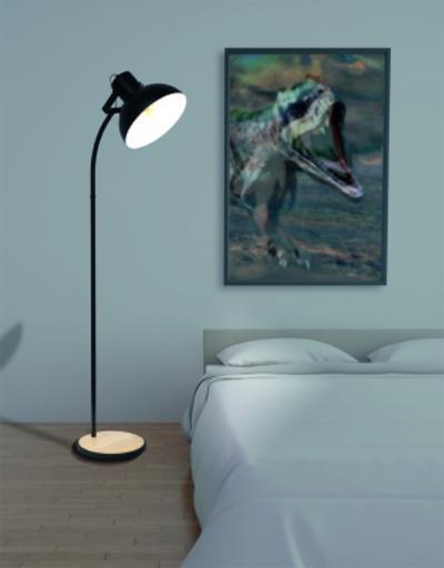 Állólámpa a hálószobában - háló ötlet, modern stílusban