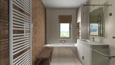 Letisztul fürdőszoba - fürdő / WC ötlet, modern stílusban