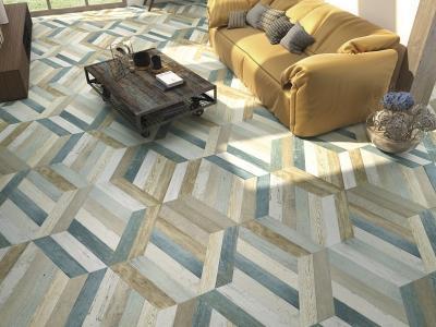 Különleges padlóburkolat - nappali ötlet, modern stílusban