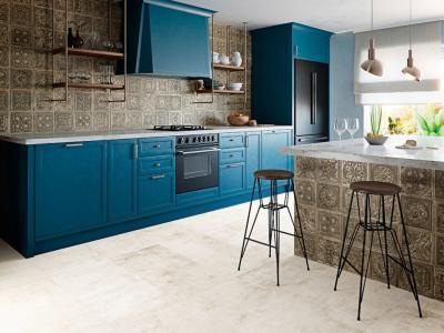 Látványos csempe a konyhában - konyha / étkező ötlet