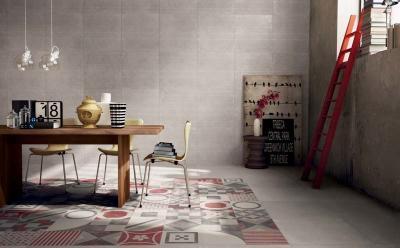 Változatos padlóburkolat - nappali ötlet