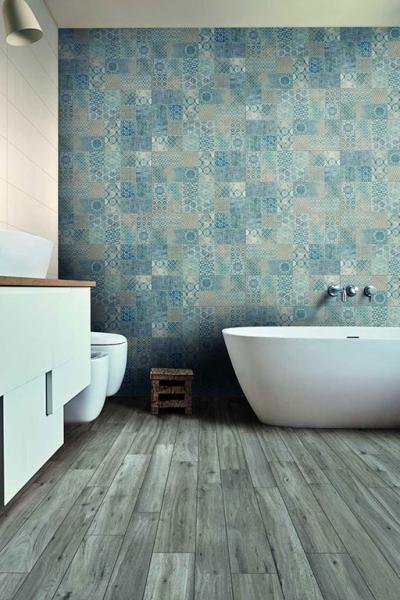 Látványos burkolatok a fürdőben - fürdő / WC ötlet, modern stílusban