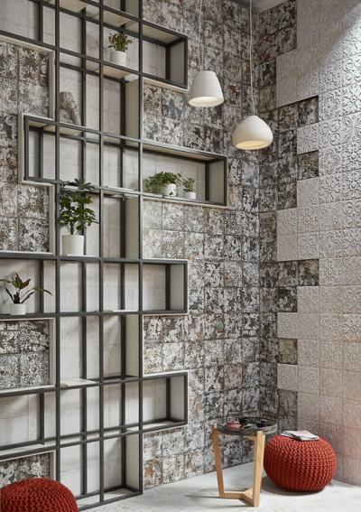 Különleges falicsempe - nappali ötlet, modern stílusban