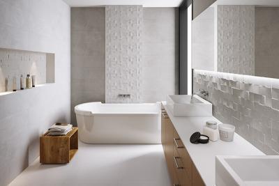 Fehér burkolat a fürdőben - fürdő / WC ötlet