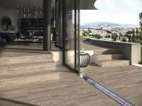 Fahatású hidegburkolat - erkély / terasz ötlet, modern stílusban