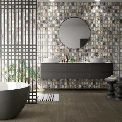 Kőhatású falicsempe - fürdő / WC ötlet, modern stílusban
