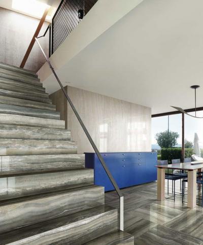 Hidegburkolat a lépcsőn - konyha / étkező ötlet, modern stílusban