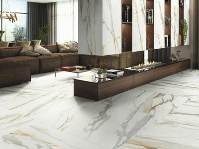 Márvány hatású padlóburkolat - nappali ötlet, modern stílusban