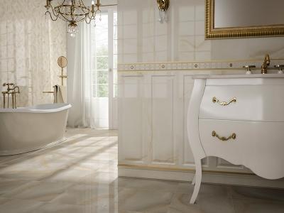 Klasszikus fürdőszoba fehérben - fürdő / WC ötlet, klasszikus stílusban