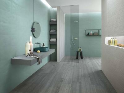 Harmonikus egységben a burkolatok - fürdő / WC ötlet, modern stílusban