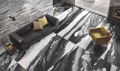 Márványhatású padló - nappali ötlet, modern stílusban