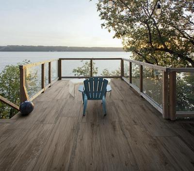Fahatású hidegburkolat a teraszon - erkély / terasz ötlet, modern stílusban