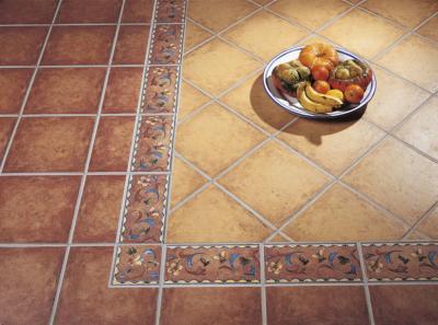 Klasszikus mediterrán burkolat a padlón - konyha / étkező ötlet