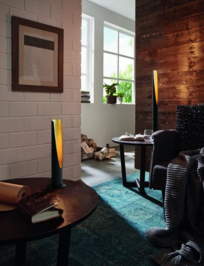 Modern asztali lámpa - nappali ötlet, modern stílusban