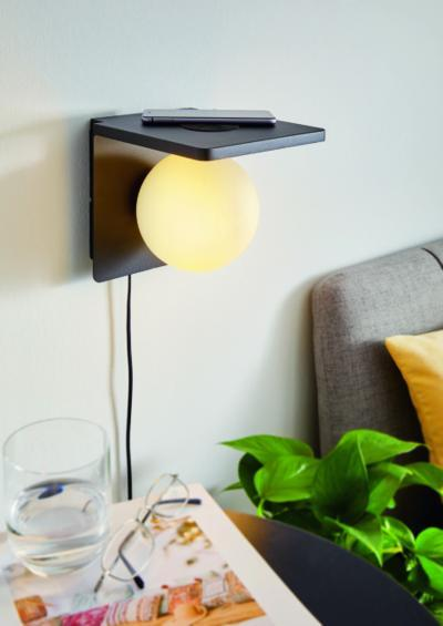 Különleges fali lámpa - nappali ötlet, modern stílusban