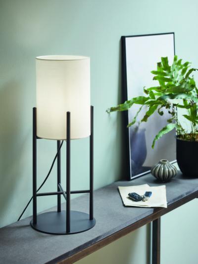 Egyszerű, modern asztali lámpa - nappali ötlet, modern stílusban