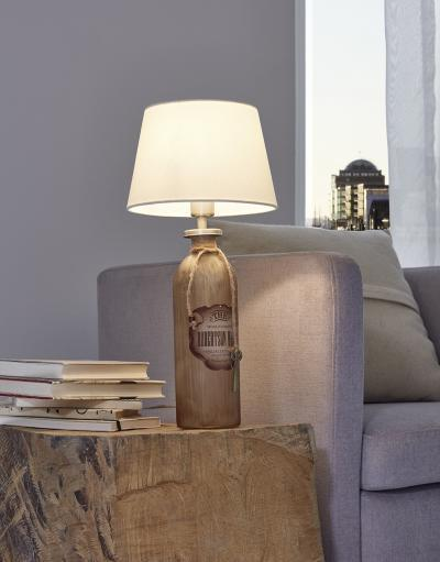 Vintage asztali lámpa - nappali ötlet
