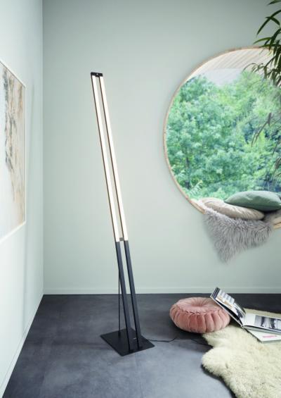 Különleges állólámpa - nappali ötlet, modern stílusban