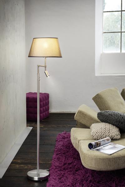 Állólámpa két világítással - nappali ötlet