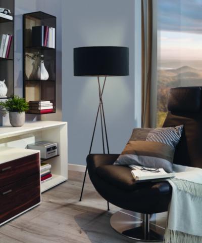 Kecses állólámpa - nappali ötlet, modern stílusban