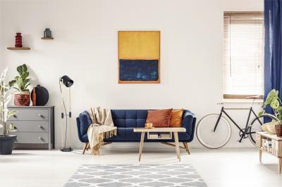Vintage jellegű állólámpa - nappali ötlet, modern stílusban