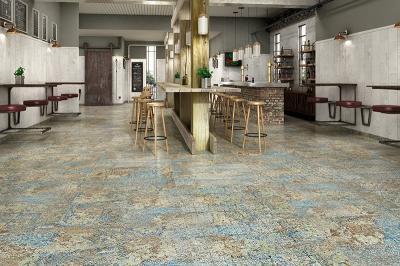 Változatos padlóburkolat - konyha / étkező ötlet