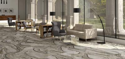 Márványhatású padlóburkolat - nappali ötlet, modern stílusban