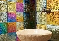 Különleges falicsempe - fürdő / WC ötlet
