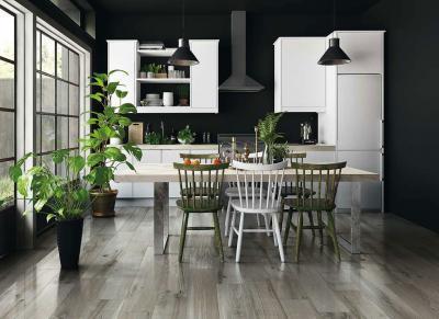 Fahatású hidegburkolat - konyha / étkező ötlet, modern stílusban