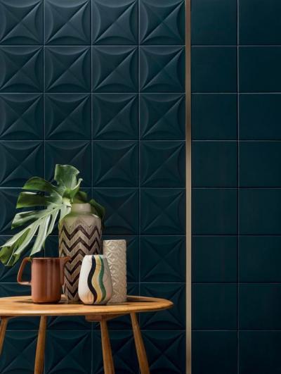 3D-s falicsempe - nappali ötlet, modern stílusban