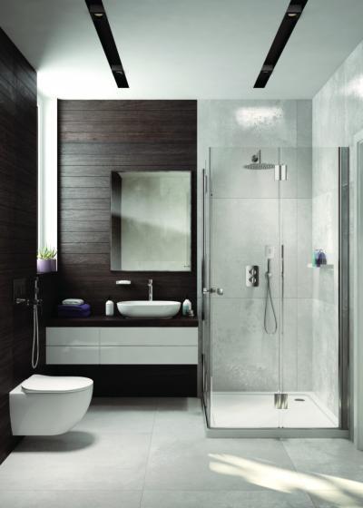 Monokróm színek a fürdőben - fürdő / WC ötlet, modern stílusban